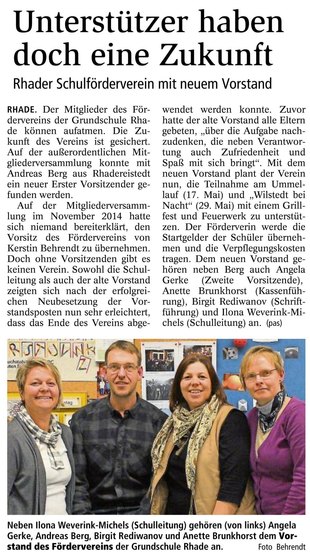 Quelle Zevener Zeitung vom 23.03.2015